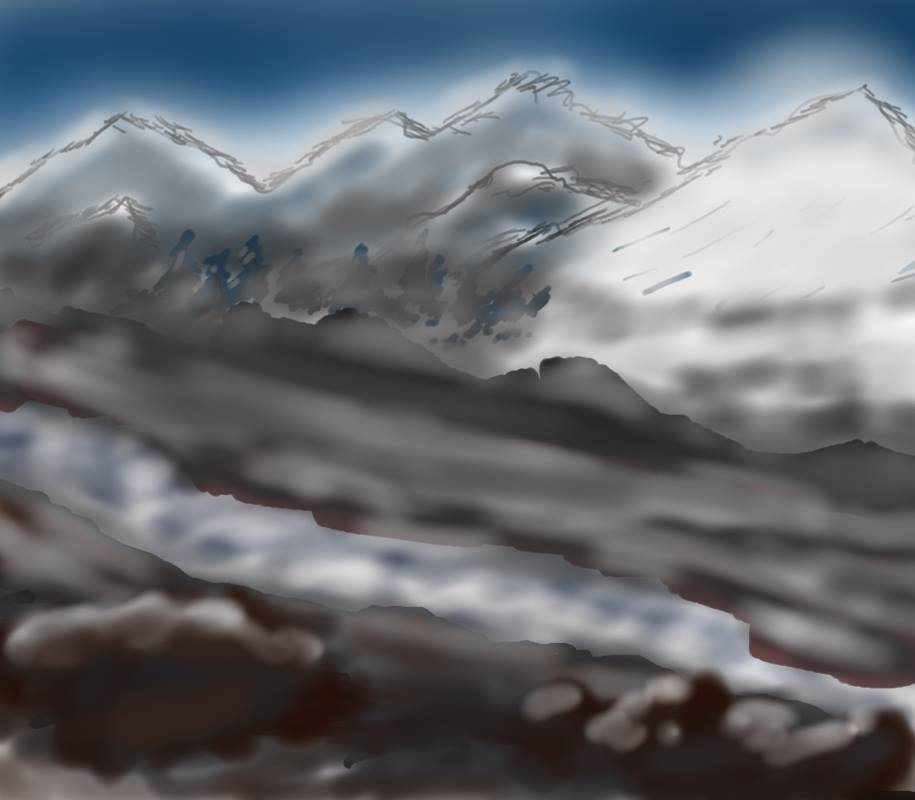 creativity in your life with drawing tablet mountain