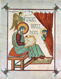 Create a high ticket course medieval monk writing a book