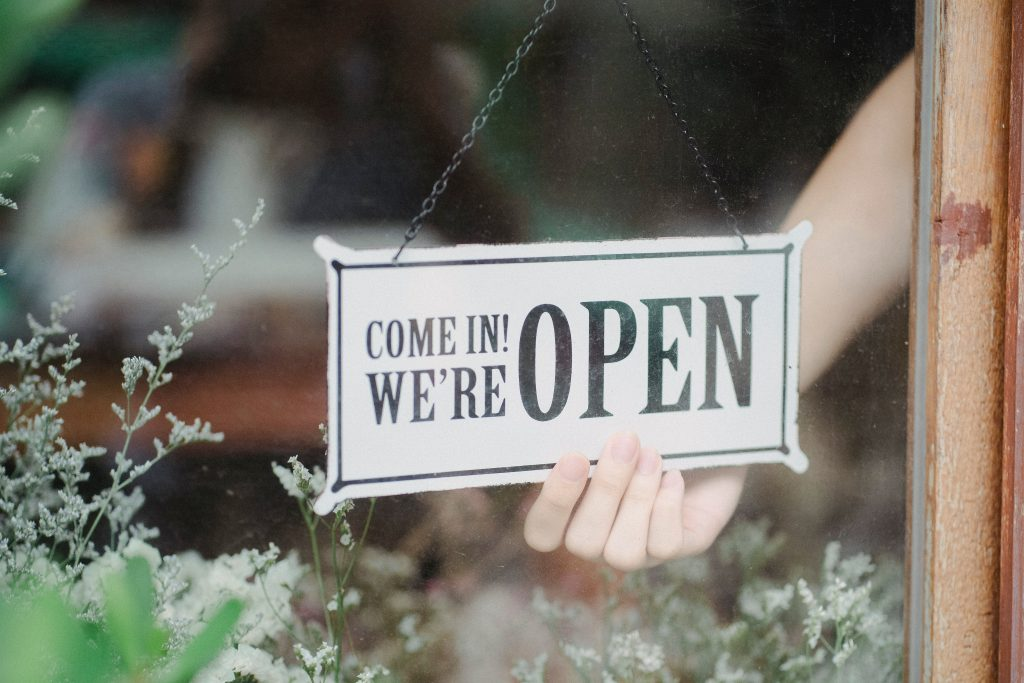 open sign, open for business, choose your customers, sales tactics, positioning, target market, define target market